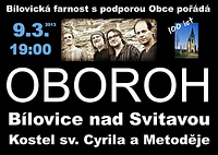 koncert skupiny Oboroh 9. 3. 2013 v 19.00