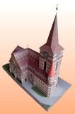 papírový kostel sv. Cyrila a Metoděje