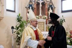 Poděkování a rozloučení kardinála s biskupem Jurajem Jordánem Dovalou