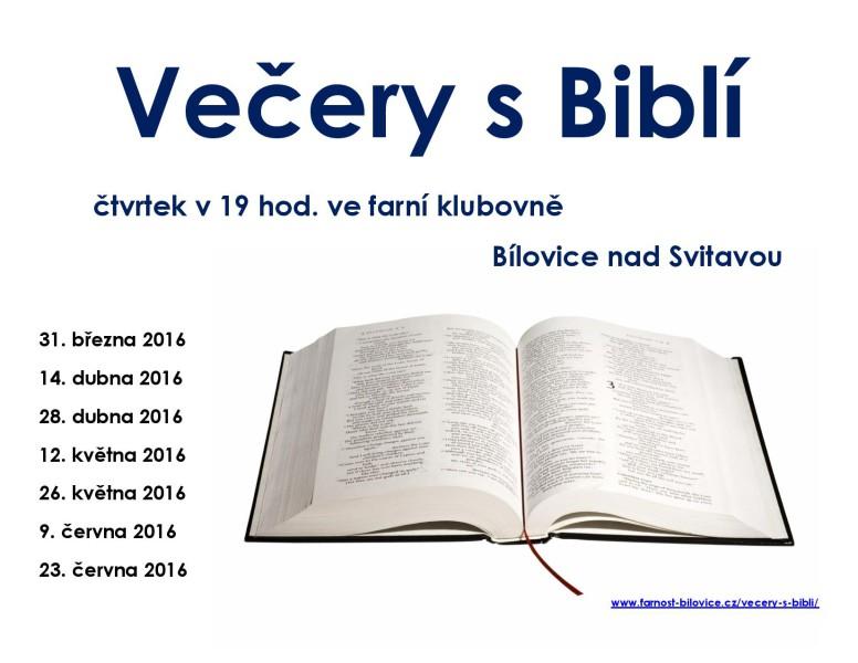 Večery s Biblí 2016-2