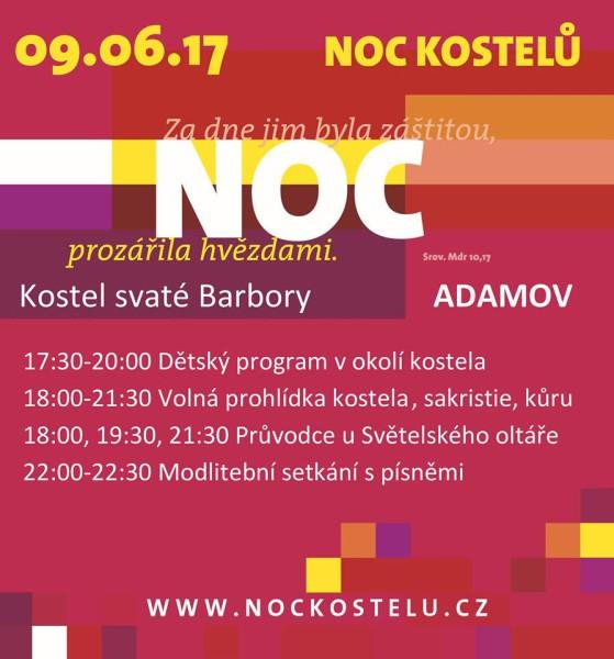 Noc kostelu 2017 Adamov